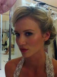 Wearing Ariane Poole make-up