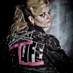 Model with punk jacket