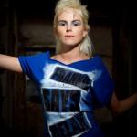 Punk hair and blue make-up
