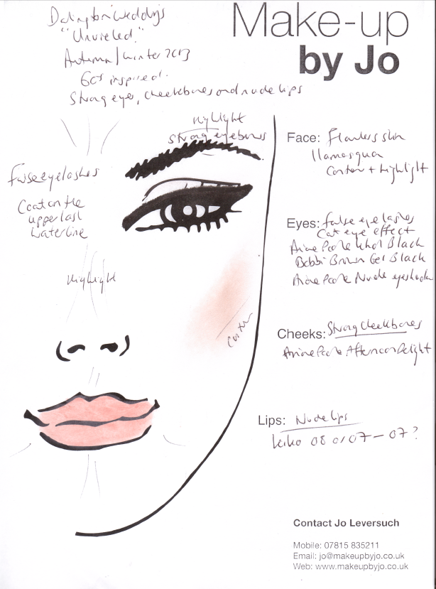 Bride Make Up Notes