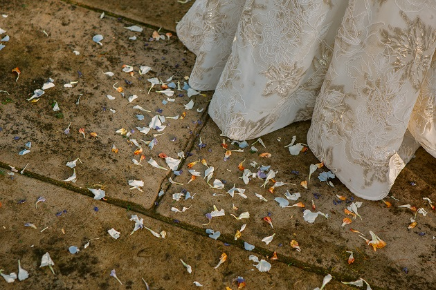 Wedding Confetti and Dress