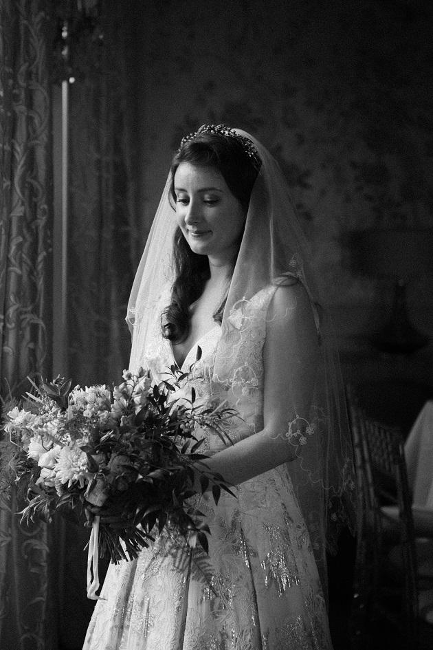 Bride with Bouquet Beauty Shot